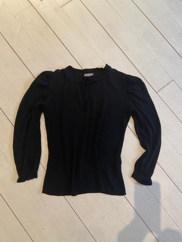Transfer blouse zwart