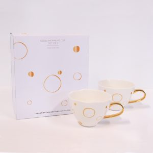 Good Morning Cup Special Edition Circle Gold s/2 in gift pack